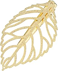 Young & Forever Quirky Hair Fascinator Gold Plated Leaf Hair Clip Comb For Women Girls HA182