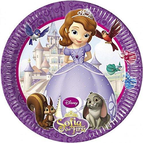 die Erste Party Teller, 8Stück (Prinzessin Sofia Kuchen)