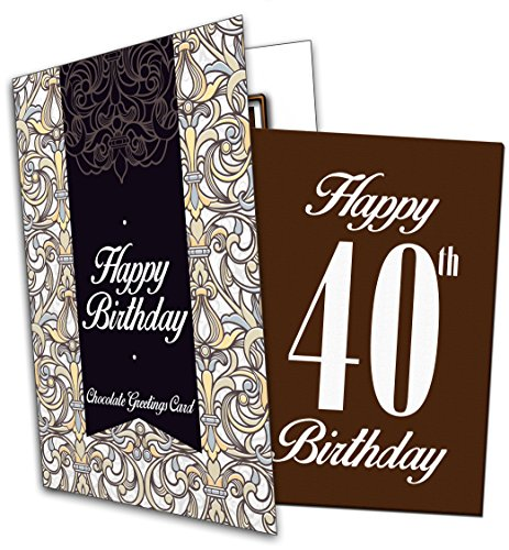 Happy 40th Birthday - Chocolate Greeting Card