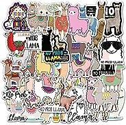 KASTWAVE Alpaca Stickers| 50 PCS | Vinyl Waterproof Stickers for Laptop, Skateboard, Water Bottles, Computer,