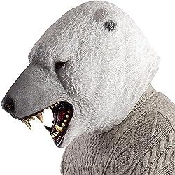 Carnival Toys 1490–Máscara Oso Polar, color blanco, talla única