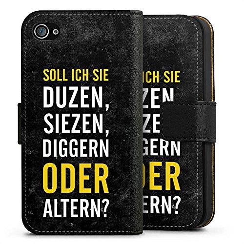 Apple iPhone X Silikon Hülle Case Schutzhülle Humor Lustig Sprüche Sideflip Tasche schwarz