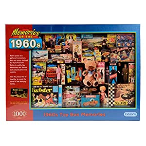 Gibsons 1960s Toy Box Memories 1000 Piece Jigsaw Puzzle
