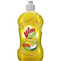 Vim Dishwash Liquid Gel Lemon, With Lemon Fragrance, Leaves No Residue, Grease Cleaner For All Utensils, 500 ml Bottle