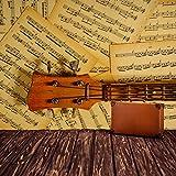 Musik-Wandbild-Gitarrenmusik-Hinweis-Foto-Tapete-Schlafzimmer-Haus-Dekor-Erhltlich-in-8-Gren-Riesig-Digital