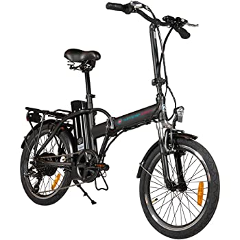 Simple Bike Bicicleta eléctrica Negro Plegable – 250-watts