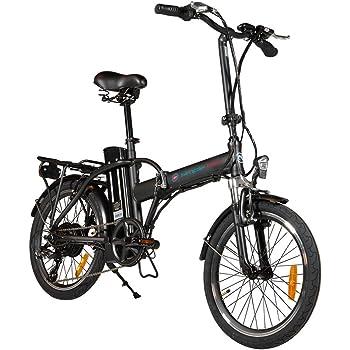 Simple Bike Bicicleta eléctrica Negro Plegable – 250-watts- batería extraíble