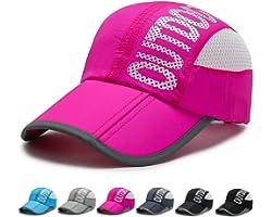 FADACHY Men's Running Cap, Folding Quick Dry Baseball Cap Lightweight Breathable Fishing Hat