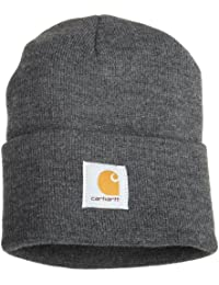 Carhartt workwear  - Sombrero de la gorrita tejida del reloj, mediano, de color gris oscuro