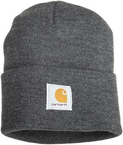 Bonnet Homme Gris - Carhartt Watch Hat Bonnet de travail, Moyen,