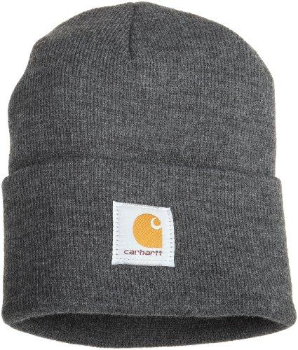 Carhartt Workwear Beanie Mütze Watch Hat Arbeitsmütze, dunkelgrau, A18CLH (Frauen, Hut Carhartt)