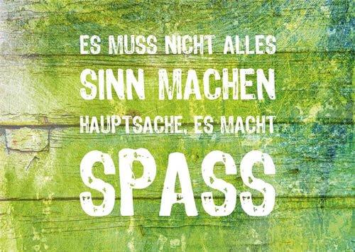 Postkarte A6 +++ LUSTIG von modern times +++ ES MUSS NICHT ALLES SINN MACHEN +++ WILD THINK