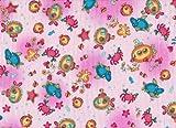 Welt der Kissen 14540 Bezug Stillkissen / Seitenschläferkissen, 145 x 40 cm, Wasserwelt rosa