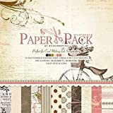 CraftDev 24 Thick Beautiful Pattern Printed Paper And 3 Die-Cut Paper Sheet (12 x 12 inch)