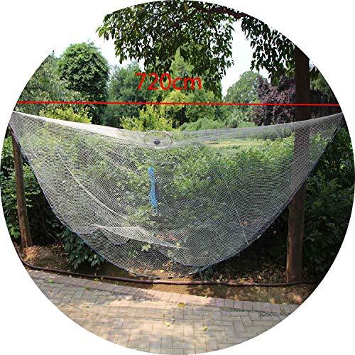 Seesaw-Min Net Für Männer Nylon Eco Kescher Anhänger Große 2.4 7.2M Echt Weiß Fischernetz Aluminiumring-Fliegen-Fischen-Net-Gang, 720Cm Cord Thema
