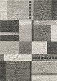 Moderner Teppich Lusaka 01 - Farbe wählbar | schadstoffgeprüft pflegeleicht antistatisch schmutzabweisend robust und strapazierfähig | u.a. für Wohnzimmer Schlafzimmer Kinderzimmer und Flur geeignet, Farbe:Hellgrau, Größe:120 x 170 cm