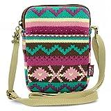 MopaclleGirls Canvas Mini Cute Cross Body bag Cell Phone Purse Wallet PouchShoulder Bag for Women,Lady (Purple)