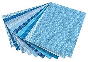Folia 46409-Diseño de cartón Basics Surtidos, 50x 70cm, 10Hojas, Color Azul