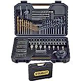 Stanley Set van 100 gemengde boren en accessoires.