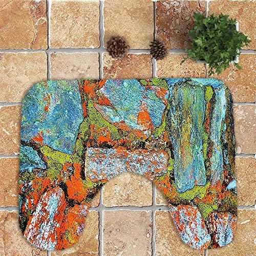 Makefortune 2019 Badteppich Set, 4 Pcs Badmatte, Simulation Bodenfliese Drucken Muster Rutschfest Badematten Weiches Badvorleger Badezimmer Küche Teppich Doormats Carpet fußmatten Decor badmatte
