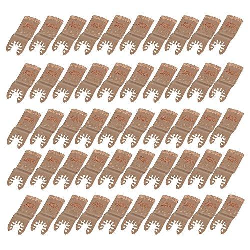 cnbtr 32mm Breite Gelb E Typ Hartmetall oszillierendes Körnung Quick Release Sägeblatt Multifunktions Power Tools Set 50Stück