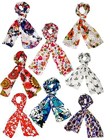 INDIAN FASHION GURU Womens Set of 8 stoles and scarf