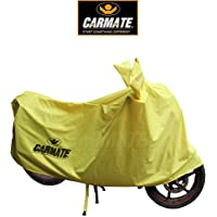 CARMATE Bike & Scooty Body Cover Universal Two Wheeler Cover - Yellow (Size - Large)