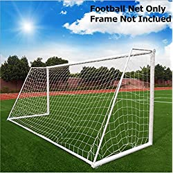 Blanco objetivo de fútbol, la meta de fútbol Net entrenamiento de fútbol al aire libre con altura ajustable y ancho, Meetyours red de fútbol de polipropileno para niños Niños Adolescente (red sólo) (Blanco, 3.6 x 1.8m)