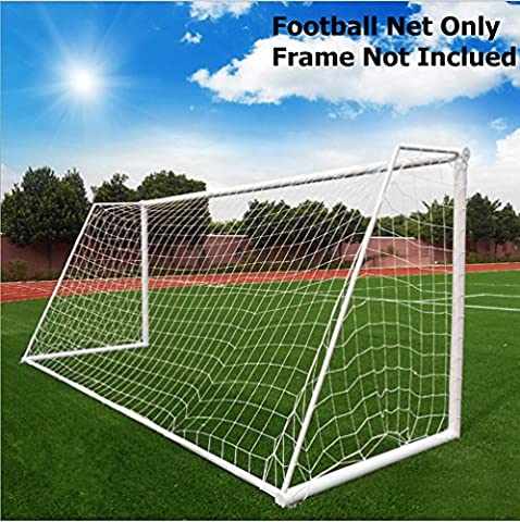 White Football Goal, Soccer Goal Net Outdoor Football Training with Adjustable Height and Width, Meetyours Polypropylene Football Net for Kids Children Teenager (Net Only) (3.6 x