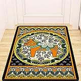LYLLYL Tappeto Europeo Retro Turco Nazionale Vento Porta Tappeto Camera da Letto Foyer Portico corridoio casa Antiscivolo Mat Tappeto (Dimensioni : 80CM×130CM)