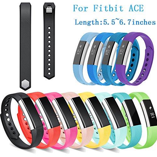 Für Fitbit Ace Kids Smart Watch Band Ersatz Soft Silicagel Handschlaufe Sportuhr Armband für Jungen/Mädchen (Cyan-Blue, S:140-170 mm)