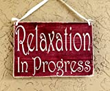 Entspannung in Progress Session 10x 8(wählen Sie Farbe) Do Not Disturb Spa Salon Massage Rustikal Schild Welcome Home Office Tür Kleiderbügel Custom