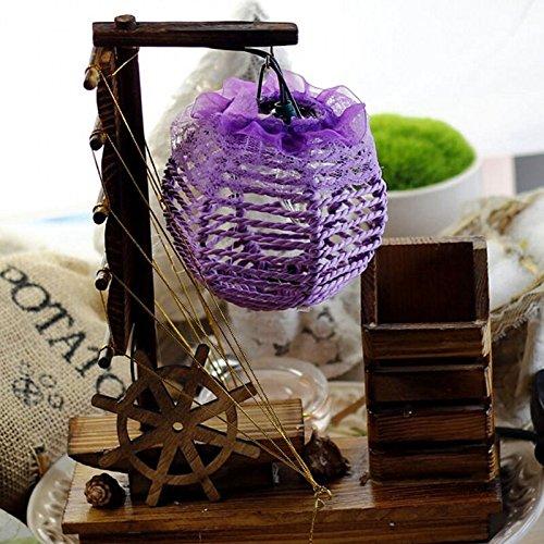 SQDTNSLT-Creative in legno barca a vela piccola ombra matita sfera