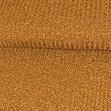 Strickstoff Meliert Dunkel Senfgelb Einfarbig Uni Strickjersey Modestoffe Strick melangeeffekt - Preis Gilt für 0,5 Meter
