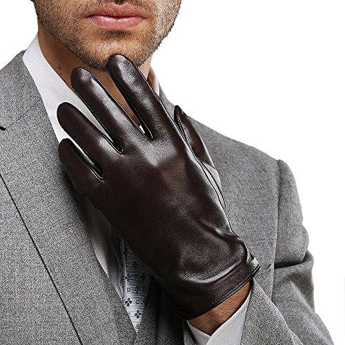 Harrms guantes clásico de hombre para invierno de mejor genuino Nappa