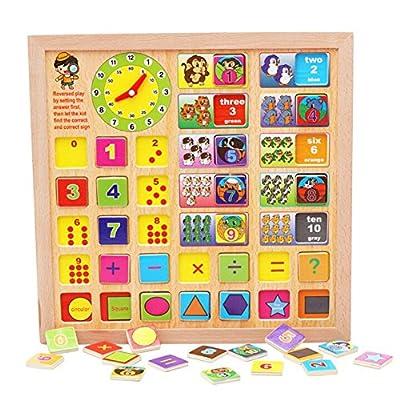 hibote Madera para la Educaciš®n Jigsaw Puzzle, lš®gica y capacidad de inteligencia de Desarrollo del aprendizaje de los juguetes para los ni?os de hibote network technology Co., Ltd
