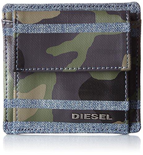 Diesel Striple Tytano Denim / Cuoio Portafogli Maschi