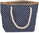 styleBREAKER Strandtasche mit Punkte Muster und Reißverschluss