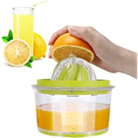 IZSUZEE Presse Agrume Manuel, 14.5X 7.5 cm Presse Agrumes Orange Citron Manuel 4 en 1, Presse-agrumes Orange Manuel…