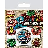 Badgepack 5 Pezzi Marvel Retro Captain America
