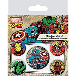 Pyramid International Marvel Retro - Badge Pack Captain America