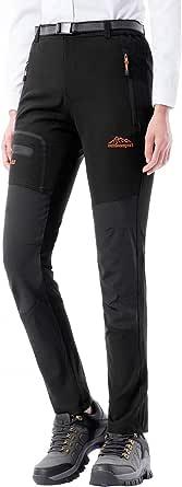 DAFENP Pantaloni Trekking Donna Softshell Pantaloni da Lavoro Estivi Impermeabili Pantaloni Montagna Escursionismo Leggero Traspirante Asciugatura Rapida All'aperto