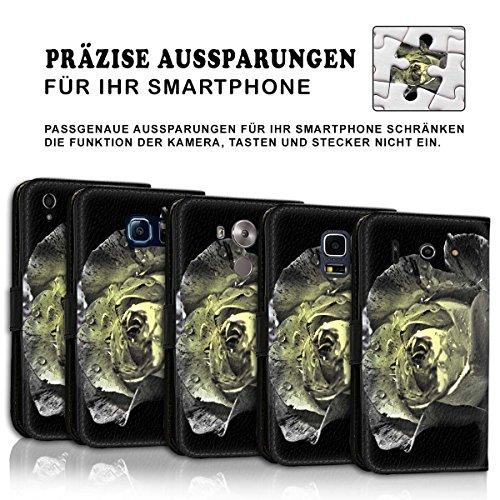 Wallet Book Style Flip Handy Tasche Case Schutz Hülle Schale Motiv Etui für Apple iPhone 6 / 6S - Variante UMV15 Design12 Design 3