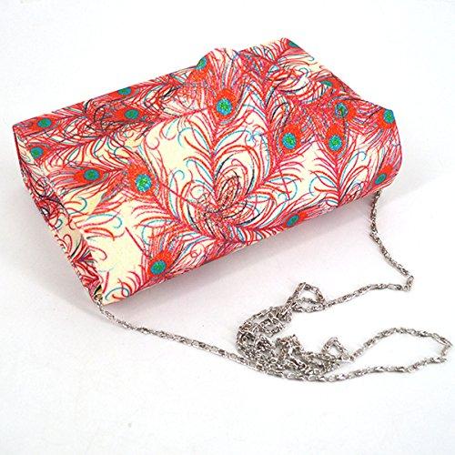 Tasche Paket Damen Kupplung Fashion Milya Glitzerig Abendtasche Hand Beige und Ladys Clutch Elegante Magnetverschluss mit Gold für p8SI1