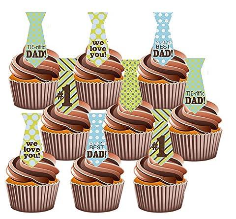 Décorations de gâteau pour un No 1Dad, Sac à Langer Motif Yummy Décorations comestibles pour goût vanille, 36