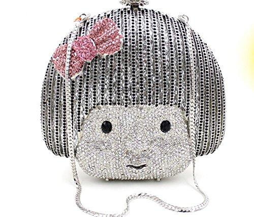 Doll-Stil Abendessen Paket Europa und den Vereinigten Staaten Diamant Luxus-High-End-Voll Diamantbohrlöcher Abendtasche Braut-Paket schwarz Black