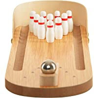 Wooden Bowling Ball Gaming Miniature Toy for Kids