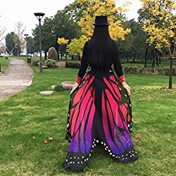 Wings Shawl, Tonwalk 197x125CM Soft Fabric Butterfly Wings Fairy Ladies Nymph Costume Accessory