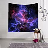 QEES Star Cluster/Space Decor Tapestry, Outer Space Tapestry Decorations Galaxy Stars Universe Milky Way, Bedroom Living Room Dorm Wall Hanging Tapestry-Navy Purple/Berry Turquoise Red(GT01-Black)