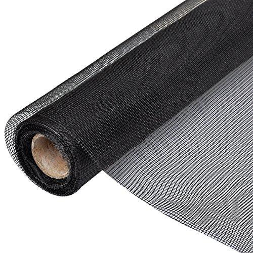 vidaxl-fiberglass-mesh-roll-insect-screen-door-window-100-x-500-cm-black